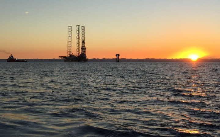 The BOSS jack up rig heads out to the Pohokura platforrm for a three-month well-intervention and maintenance programme. after being blessed by local hapu.