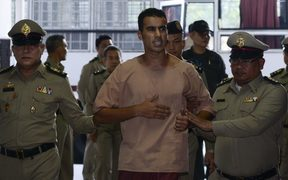 Bahraini refugee, Hakeem Al-Araibi arrives at Thailand's Criminal Court to submit his evidence to fight his extradition