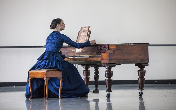Abigail Boyle in the role of Ada, in rehearsal for the RNZB ballet The Piano.