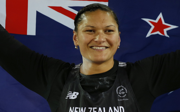 Valerie Adams wins at the 2014 Commonwealth Games.