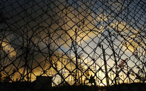 Razor wire surrounds the Christmas Island detention centre.