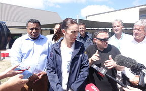 Prime Minister Jacinda Ardern in Nelson following the Tasman fires.