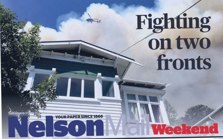 The front page of Nelson Mail's weekend edition.