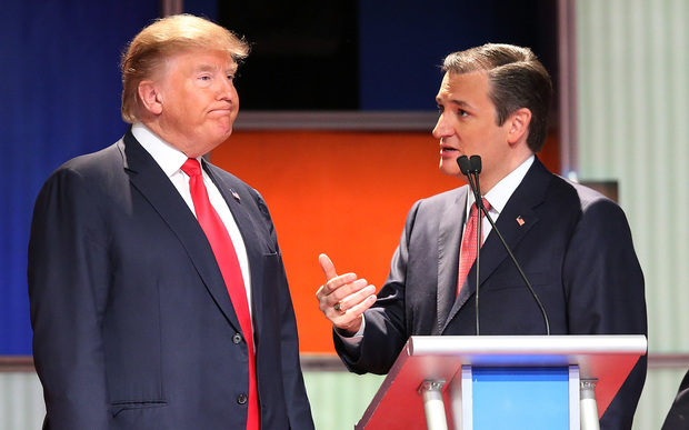 Republican presidential candidates (L-R) Donald Trump and Sen. Ted Cruz.