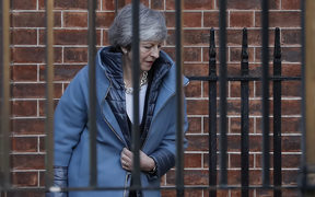 Britain's Prime Minister Theresa May leaves from the rear of 10 Downing Street in London on February 14, 2019 ahead of a vote on amendments to the Brexit withdrawal bill. (Photo by Tolga AKMEN / AFP)