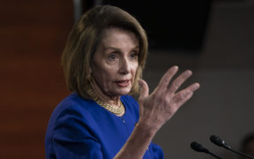 Speaker of the House Nancy Pelosi, D-Calif., talks with reporters during her weekly news conference, on Capitol Hill in Washington, Thursday, Feb. 7, 2019.  (AP Photo/J. Scott Applewhite)