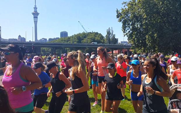 Auckland women run in honour of Joanne Pert, who was killed while exercising in Remuera.