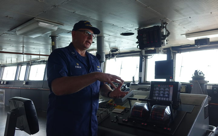 US Coast Guard cutter Polar Star captain Gregory Stanclik.