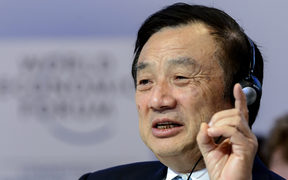 Huawei Founder and CEO Ren Zhengfei, at the World Economic Forum (WEF) annual meeting on January 22, 2015 in Davos.
