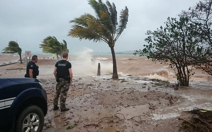Cyclone Oma lashing New Caledonia at Poum