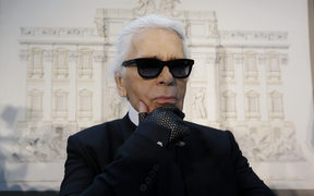 Karl Lagerfeld pictured in 2013.
