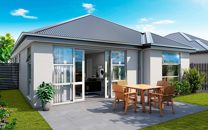 Artist's impression of KiwiBuild home to be built in Spreydon. KiwiBuild is teaming up with developer Mike Greer Homes to construct more than 110 homes in West Auckland and Christchurch.