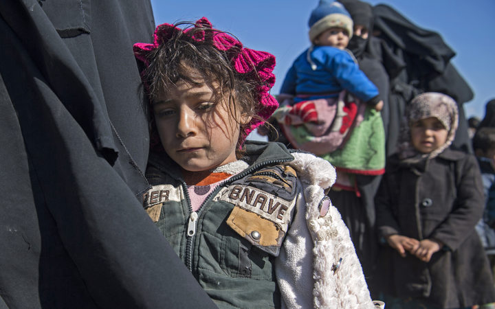 Some 20,000 people have fled Baghuz in recent weeks.