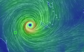 Cyclone Oma at midday on February 20, 2019