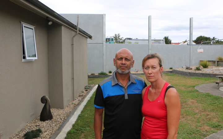 Conifer Grove residents Dianne Walker and her husband Cliff say they noticed the first cracks on the house after roadworks began on the motorway just over their back.
