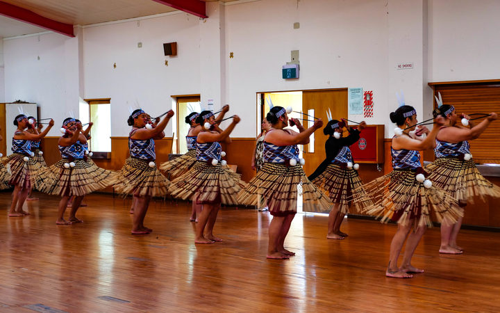 Members of Te Reanga Morehu o Rātana practice with poi ahead of Te Matatini Ki Te Ao.