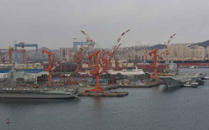The Dalian port in northern China.