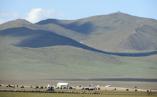 The Tibetan Plateau where the research team is focusing its work.