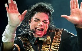 Michael Jackson performing on the Singapore leg of his Dangerous Tour.