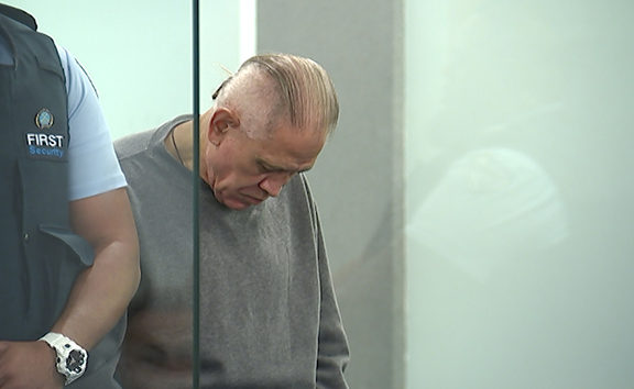 Malcom Rewa in court just after the guilty verdict was delivered by the jury in the trial for the murder of Susan Burdett.