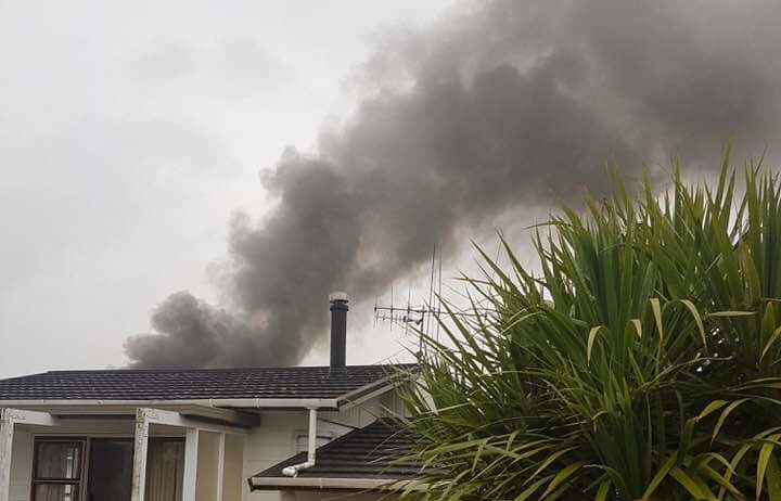 House on fire at Maunu Road.