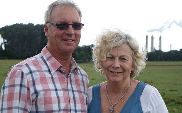 South Taranaki couple Philip and Ainsley Luscombe say almost half of their 200 hectare farm will fall into buffer zones.
