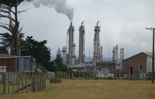 The Kapuni gas production plant is nestled in South Taranaki farmland.