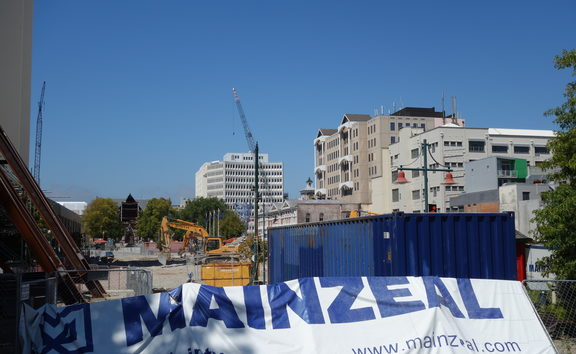 Mainzeal managed the demolition of the Clarendon Tower in Christchurch
