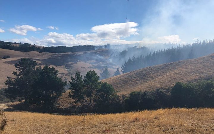 Crews have now slowed the momentum of the new fire that broke out near Nelson but are still working to contain it and stop it from spreading.