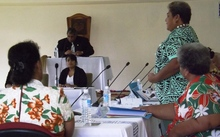 Samoa women candidates hold trial debate at parliament