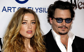 Amber Heard and Johnny Depp at the Art Of Elysium's 9th Annual Heaven Gala in 2016.