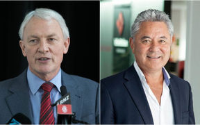 Mayoral candidates Phil Goff, left, and John Tamihere