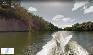 Waikato River as seen on Google Street Trekker.