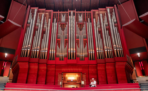 The Rieger organ in the Christchurch Town Hall's Douglas Lilburn Auditorium has been restored and upgraded.