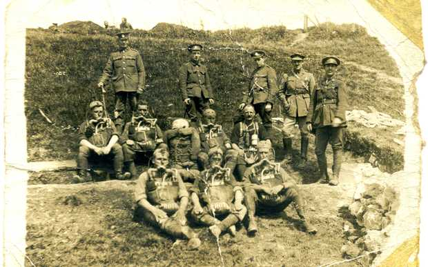 Members of the New Zealand Tunnelling Company in France during WWI