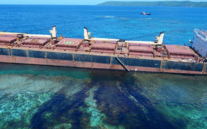 MV Solomon Trader oil spill on Rennell Island, Solomon Islands.
