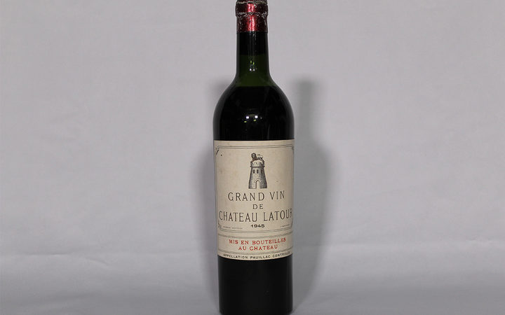 A 1945 bottle of Château Latour is set to go on auction in Auckland next week. The reserve has been set at $4,000.