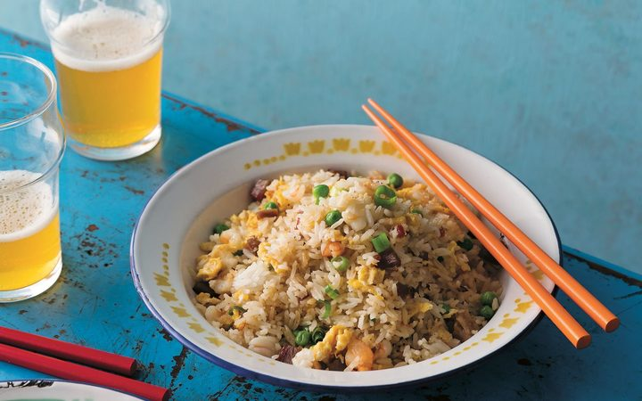 Yeung chow fried rice - from Hong Kong Food City Tony Tan. Photography by Greg Elms. Murdoch Books