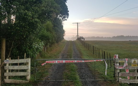 A property is cordoned off in Kingseat after police found a body.