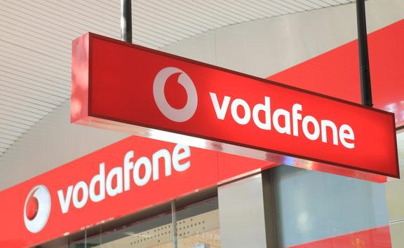 Logo of Vodafone.
