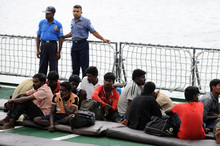Sri Lanka's navy rescued 70 would-be illegal immigrants drifting in high seas last year.