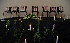 A memorial ceremony held for the crew who died in the Ethiopian Airlines crash in Addis Ababa, Ethiopia.