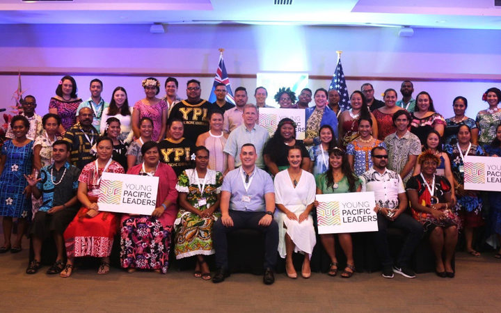Atendees at the Young Pacific Leaders Conference in Fiji