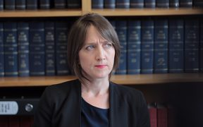Lawyer Deborah Manning speaking about the inquiry during a press conference this afternoon.