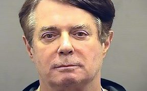 Paul Manafort being booked in the Alexandria Sheriff's Office.