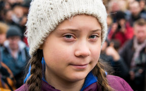 Greta Thunberg at a rally in Hamburg, Germany.