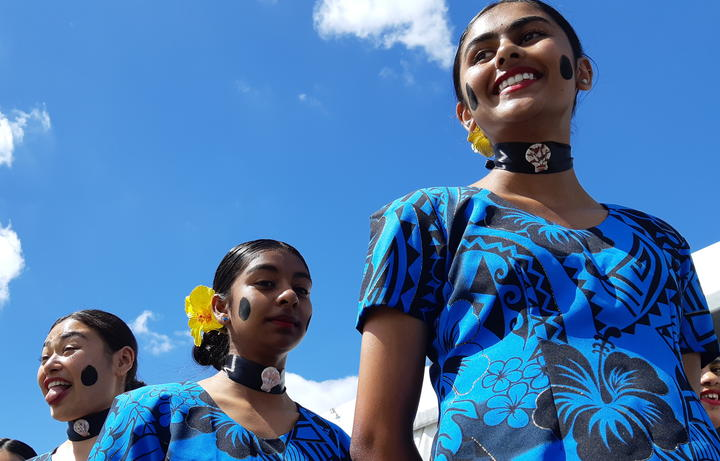 Epsom Girls Grammar's Fijian dance troupe prepare to perform at Polyfest