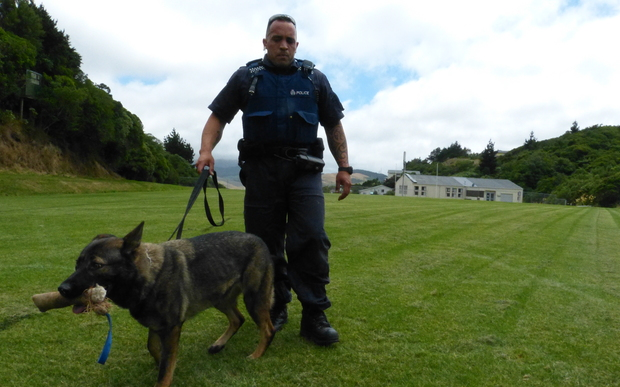 Constable Stu Rota is a dog handler in the Wellington district.