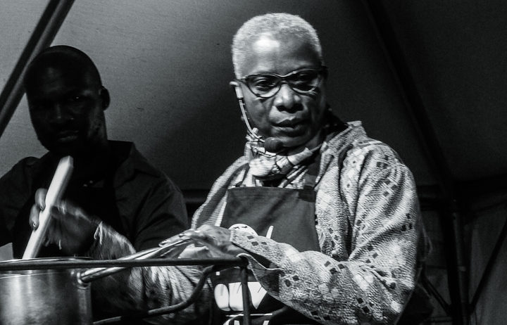 Musician Angelique Kidjo cooked a number of traditional Benin dishes at WOMAD's Taste the World stage