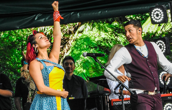 Chicano band Las Cafeteras is are from East L.A.